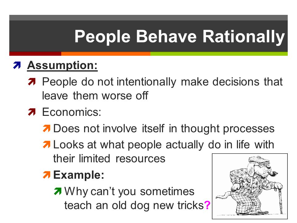 People Behave Rationally