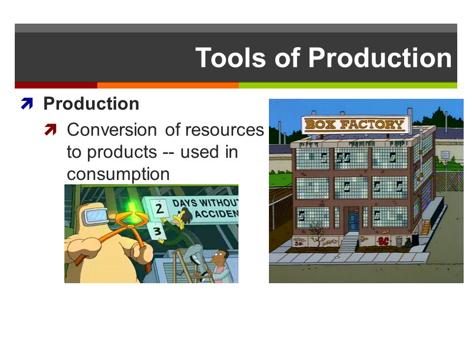 Tools of Production Production