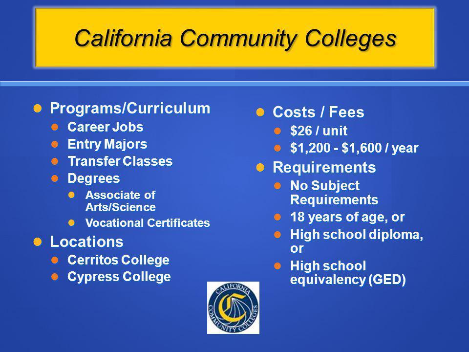 California Community Colleges