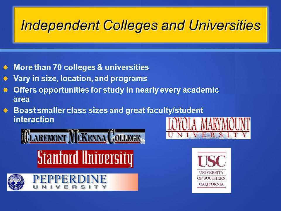 Independent Colleges and Universities