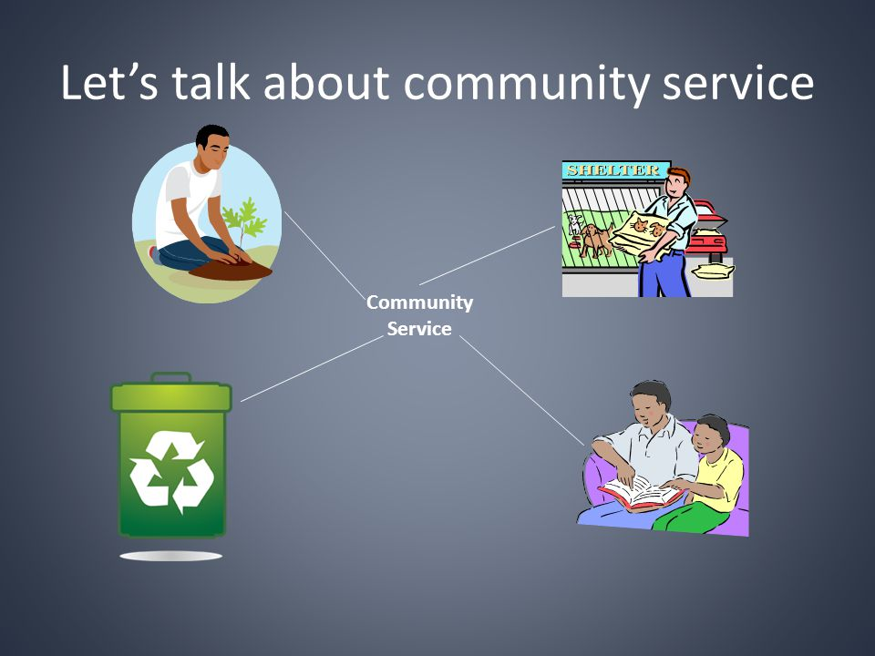 Let's talk about community service