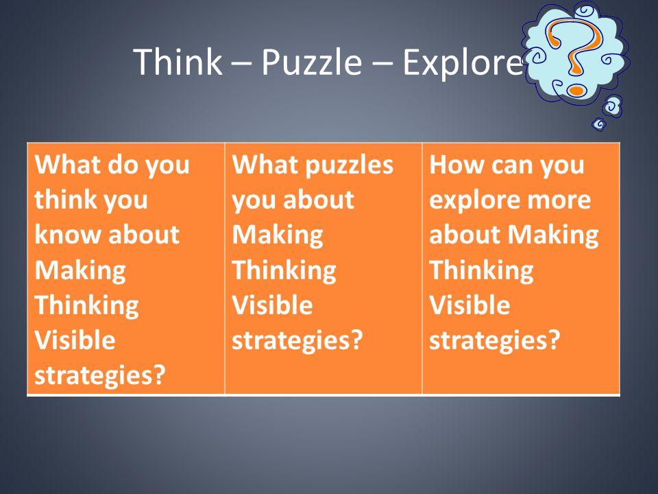 Think – Puzzle – Explore
