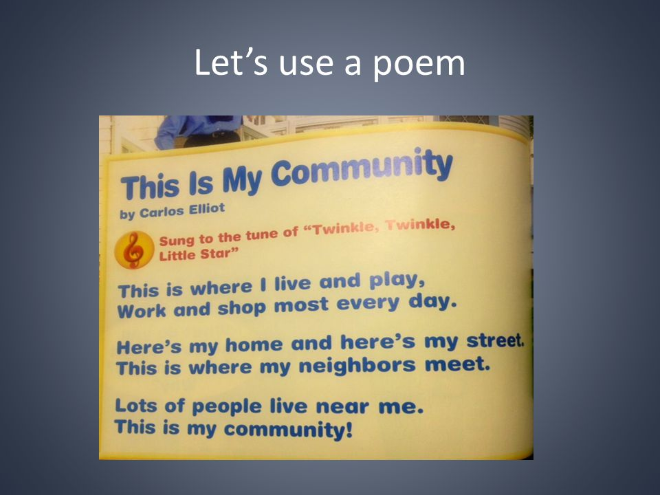 Let's use a poem