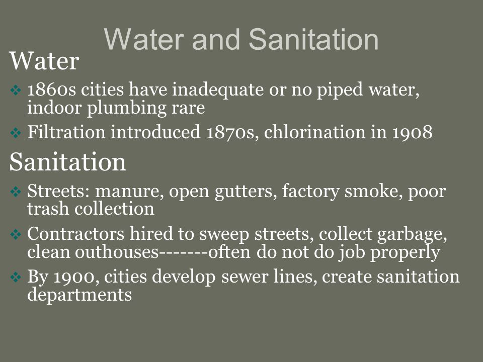 Water and Sanitation Water Sanitation