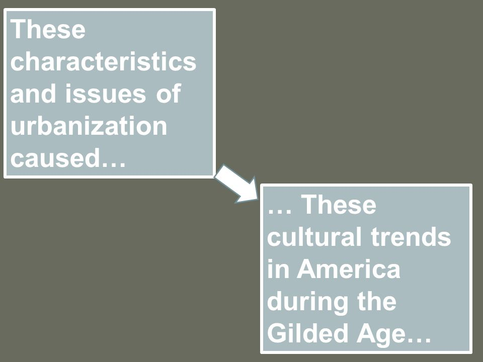 These characteristics and issues of urbanization caused…
