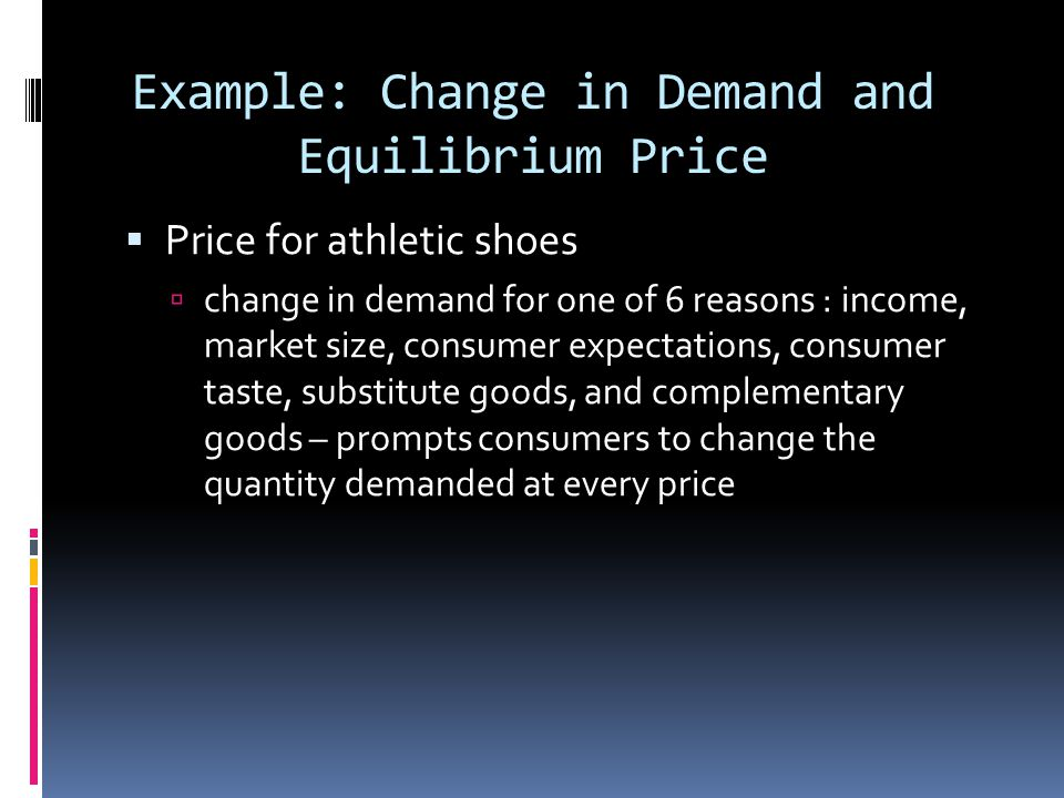Example: Change in Demand and Equilibrium Price
