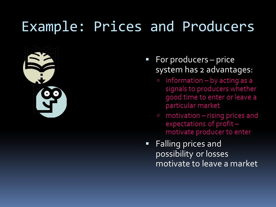 Example: Prices and Producers