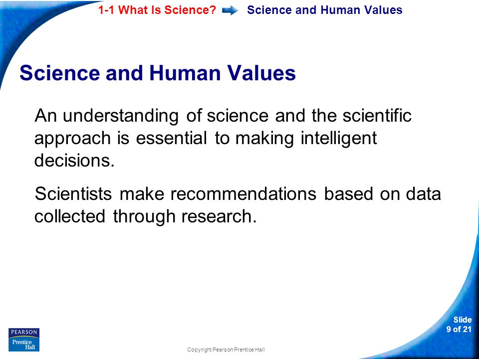 Science and Human Values