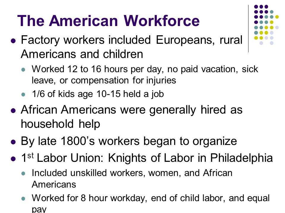 The American Workforce