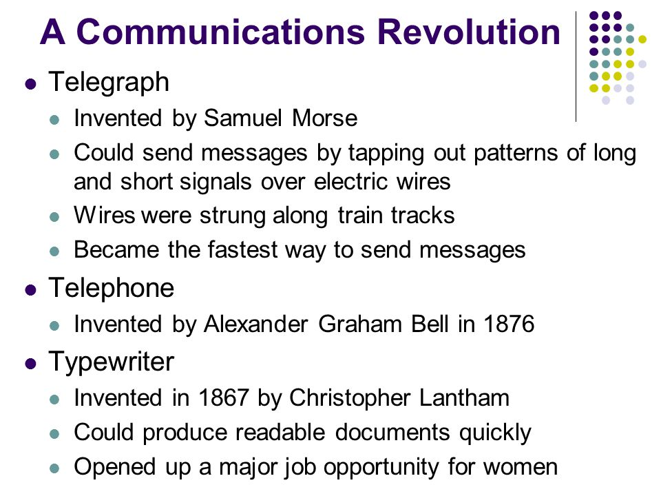 A Communications Revolution