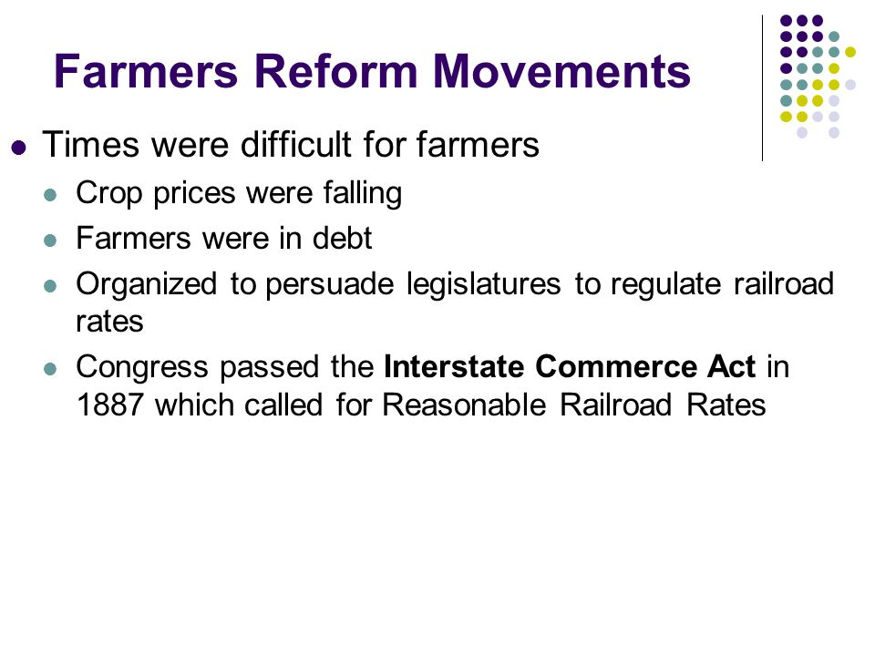 Farmers Reform Movements