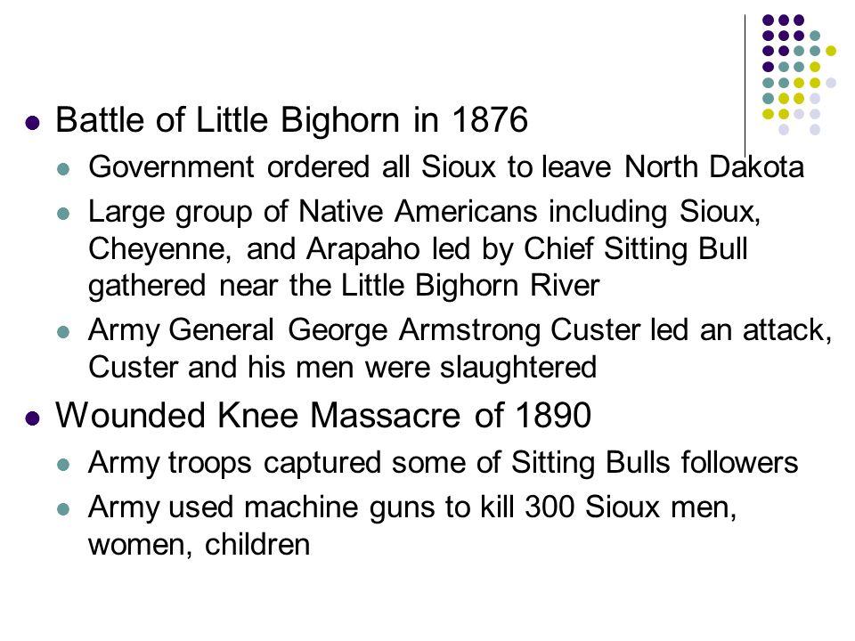 Battle of Little Bighorn in 1876