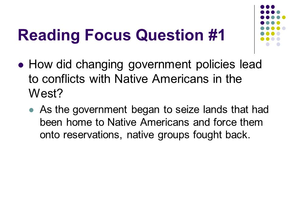 Reading Focus Question #1