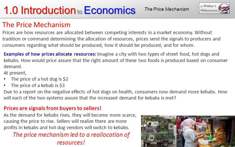The price mechanism led to a reallocation of resources!