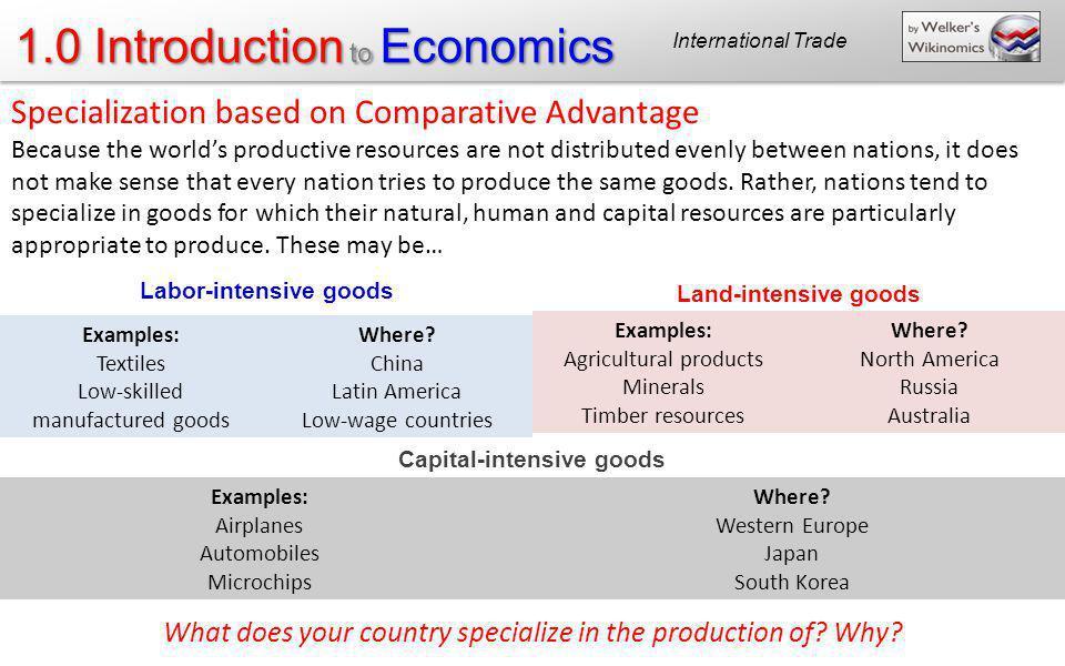 Labor-intensive goods Capital-intensive goods