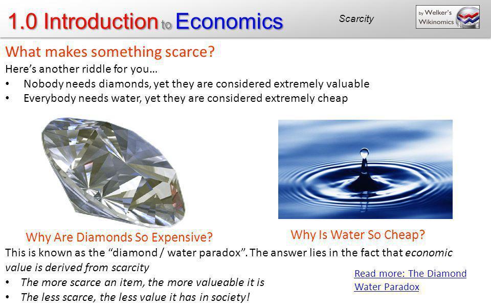 What makes something scarce
