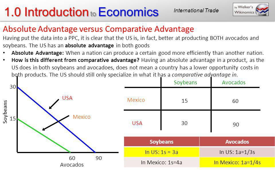 Absolute Advantage versus Comparative Advantage