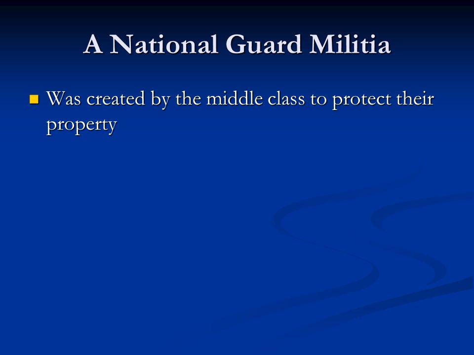A National Guard Militia