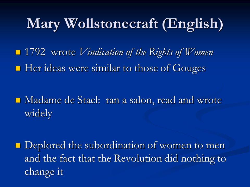 Mary Wollstonecraft (English)