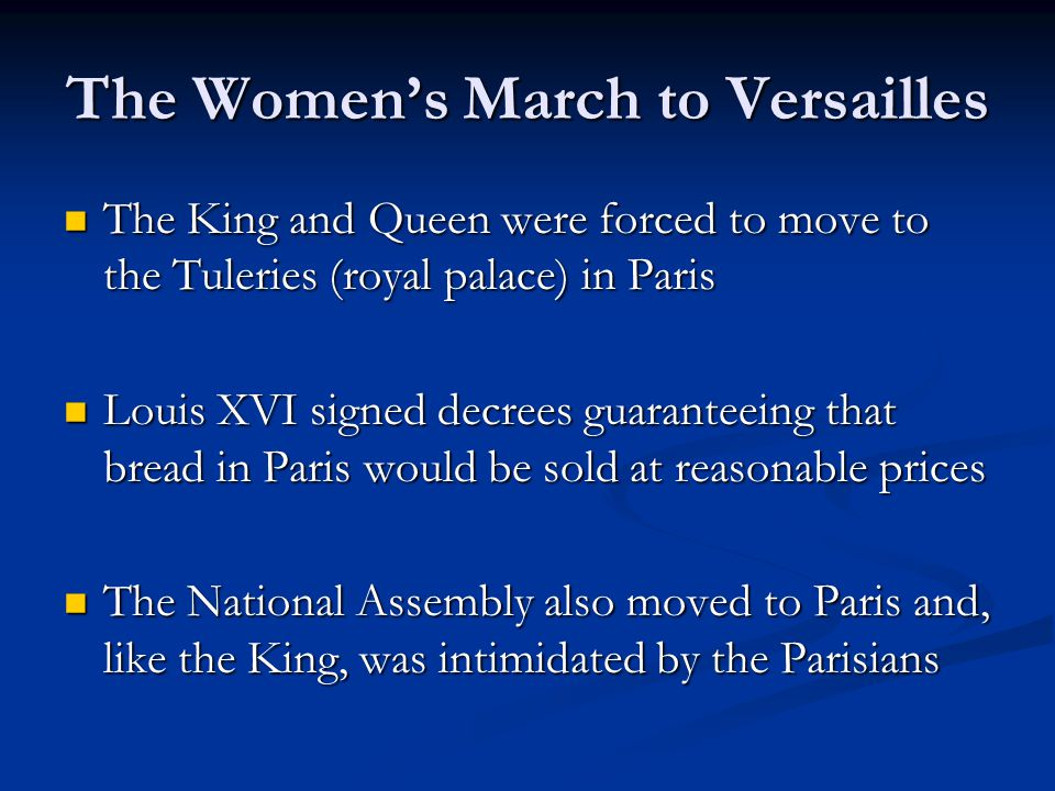 The Women's March to Versailles