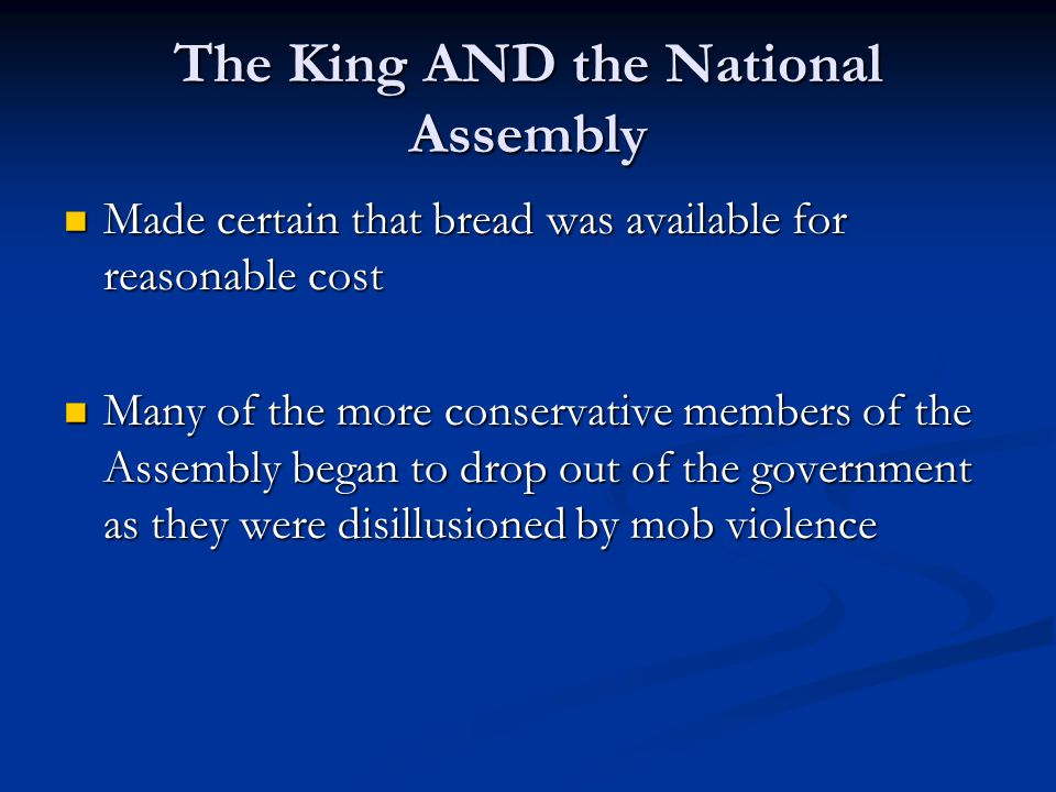 The King AND the National Assembly