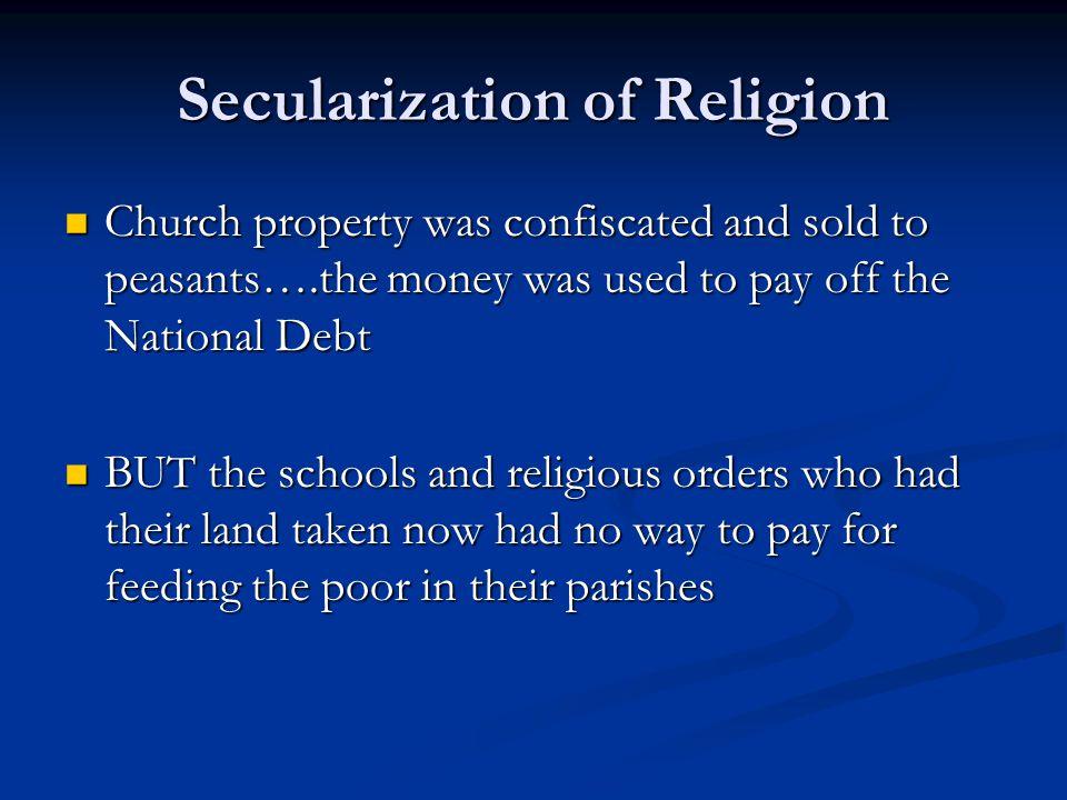 Secularization of Religion