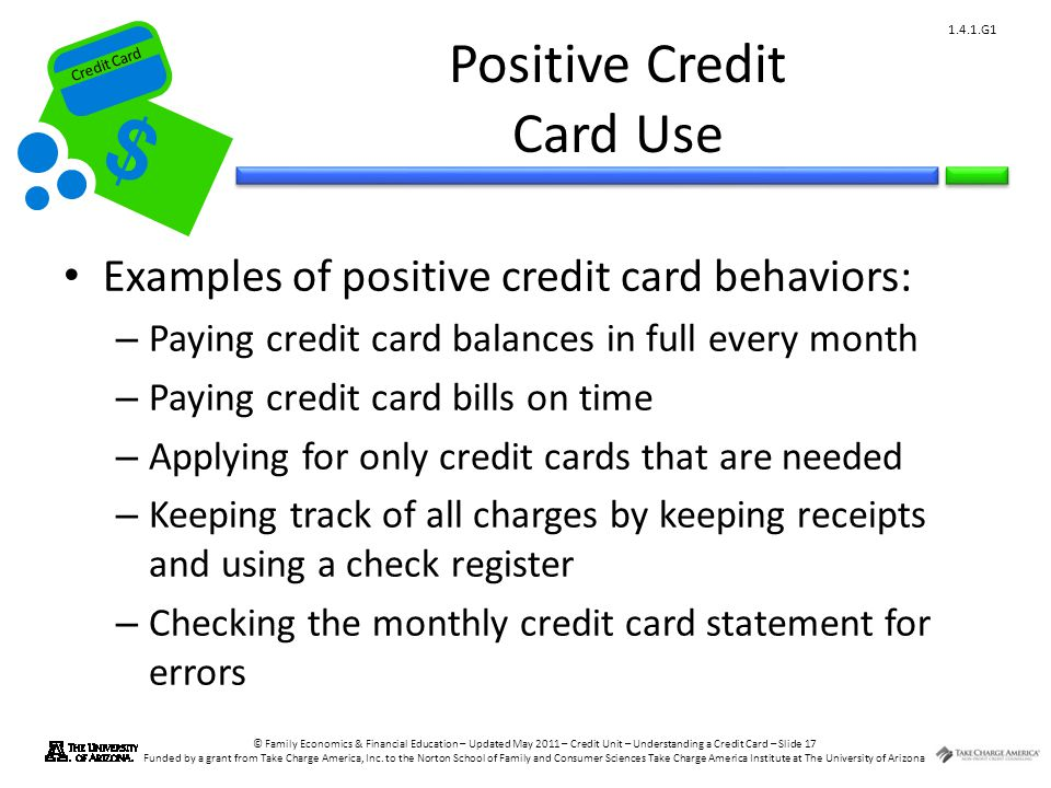 Positive Credit Card Use