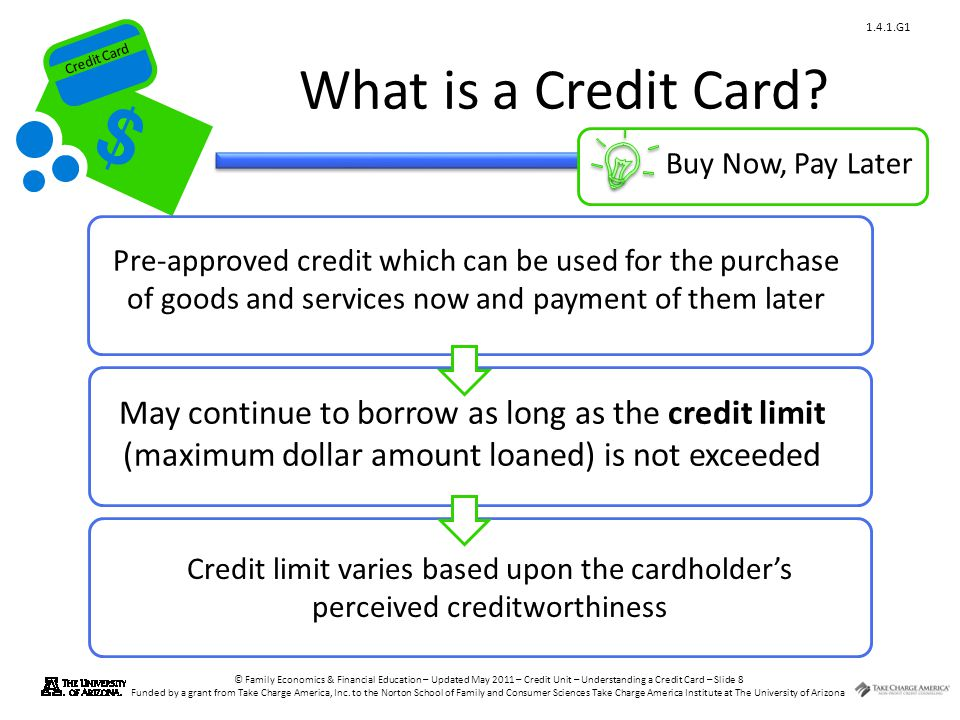 What is a Credit Card Buy Now, Pay Later.