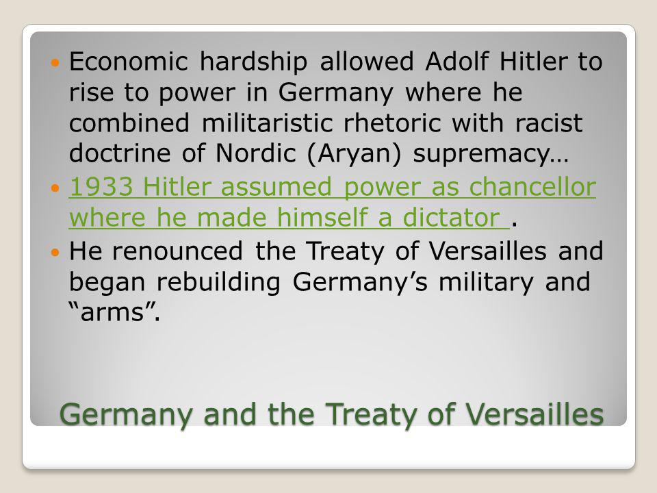 Germany and the Treaty of Versailles