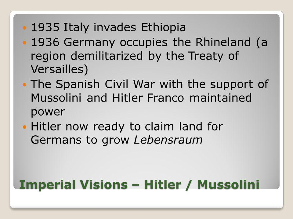 Imperial Visions – Hitler / Mussolini