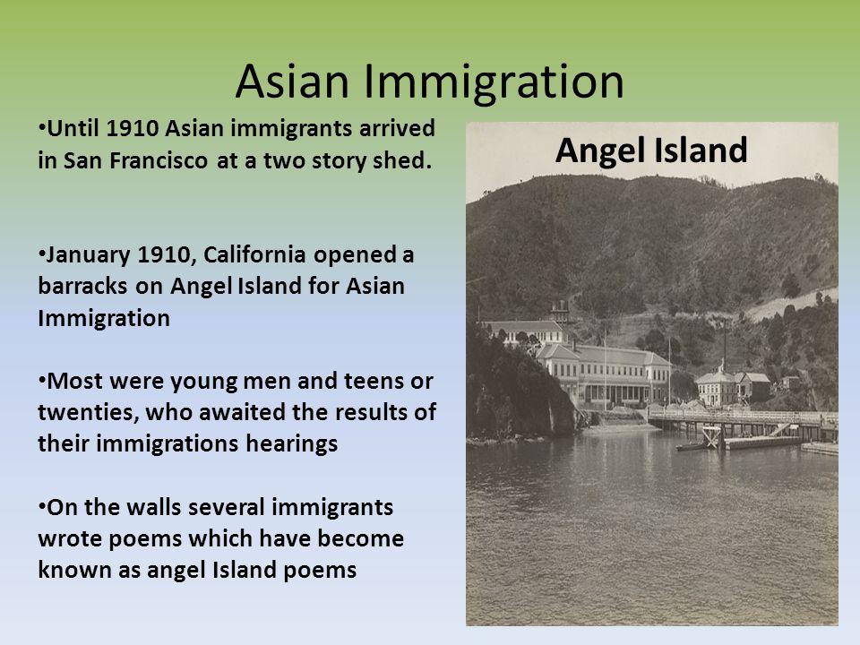 Asian Immigration Angel Island