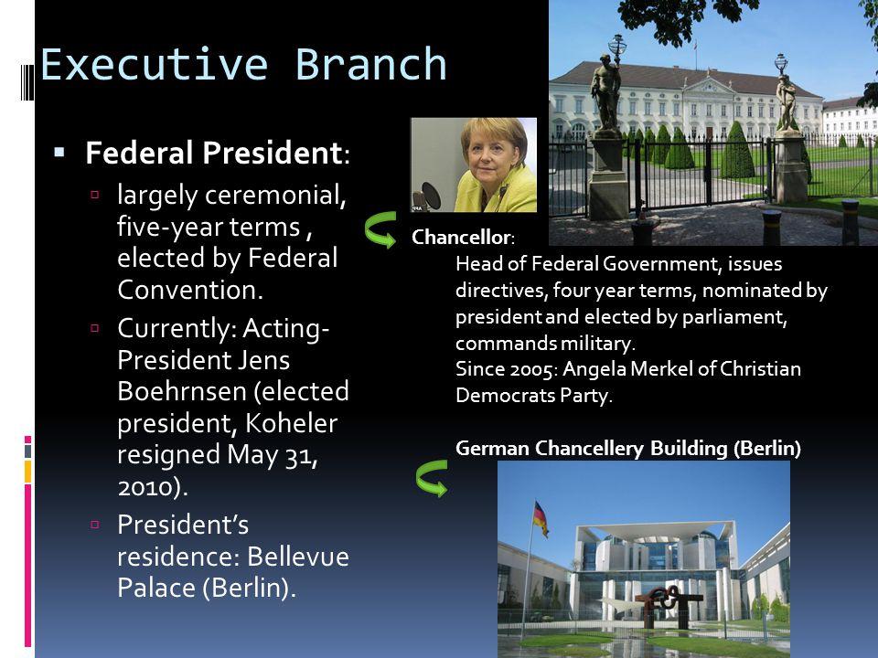 Executive Branch Federal President: