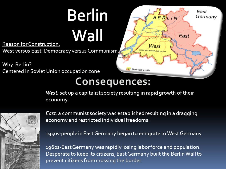 Berlin Wall Consequences: Reason for Construction: