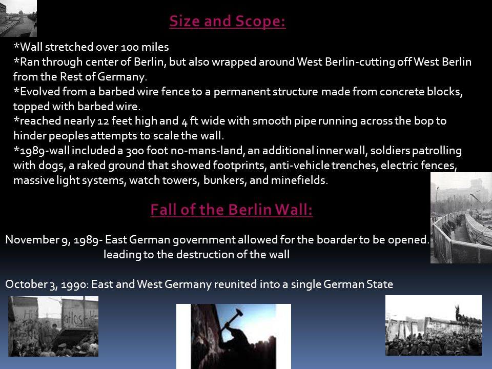 Fall of the Berlin Wall: