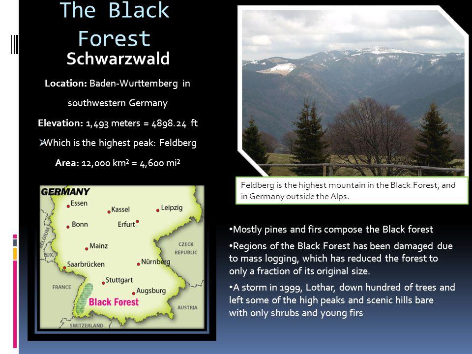 The Black Forest Schwarzwald Location: Baden-Wurttemberg in