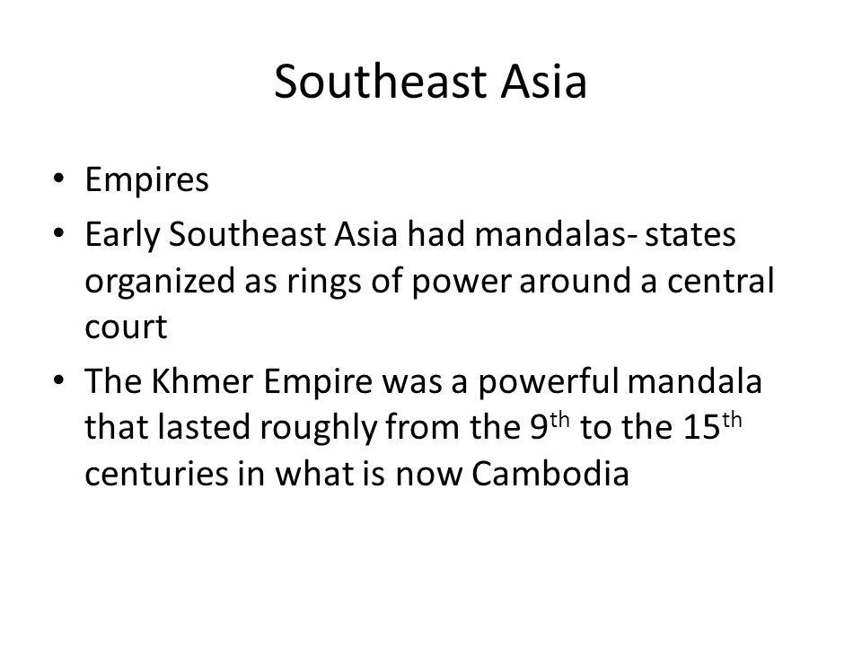 Southeast Asia Empires
