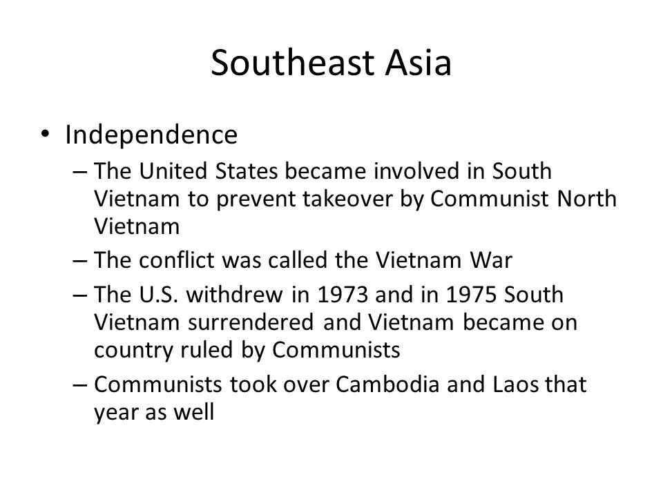 Southeast Asia Independence