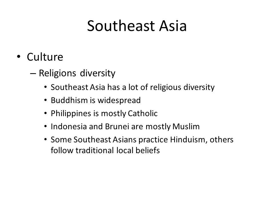 Southeast Asia Culture Religions diversity