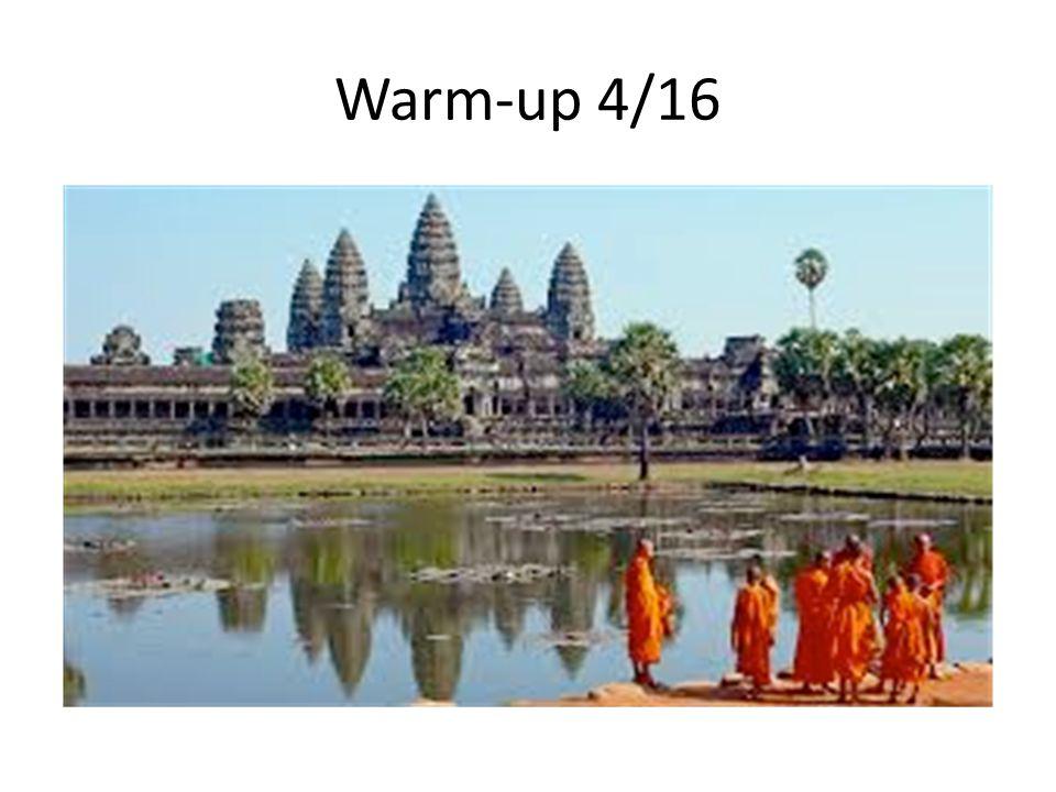 Warm-up 4/16