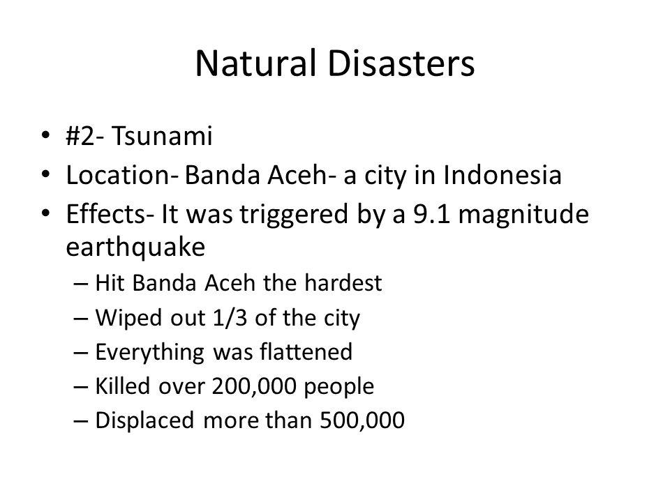 Natural Disasters #2- Tsunami