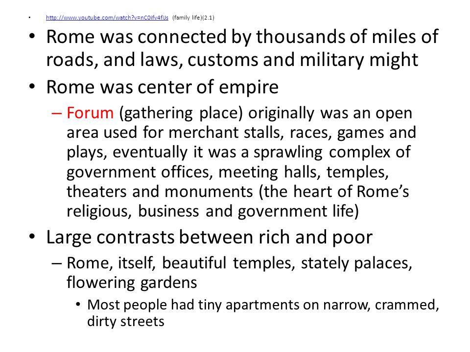 Rome was center of empire