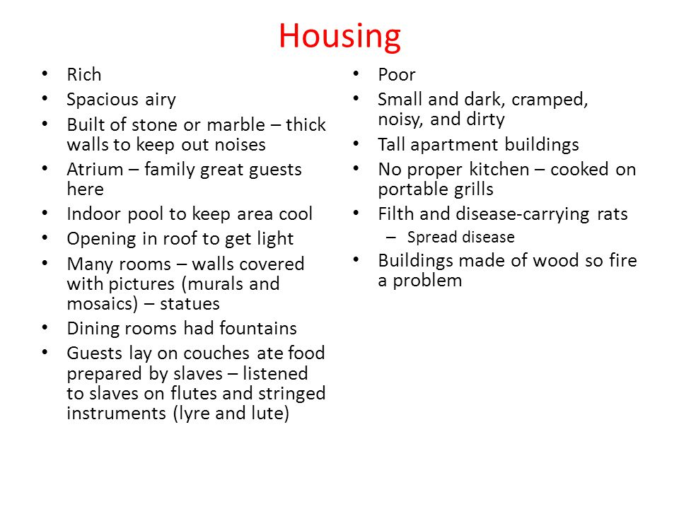 Housing Rich Spacious airy