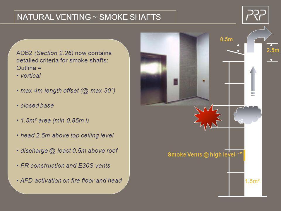 NATURAL VENTING ~ SMOKE SHAFTS