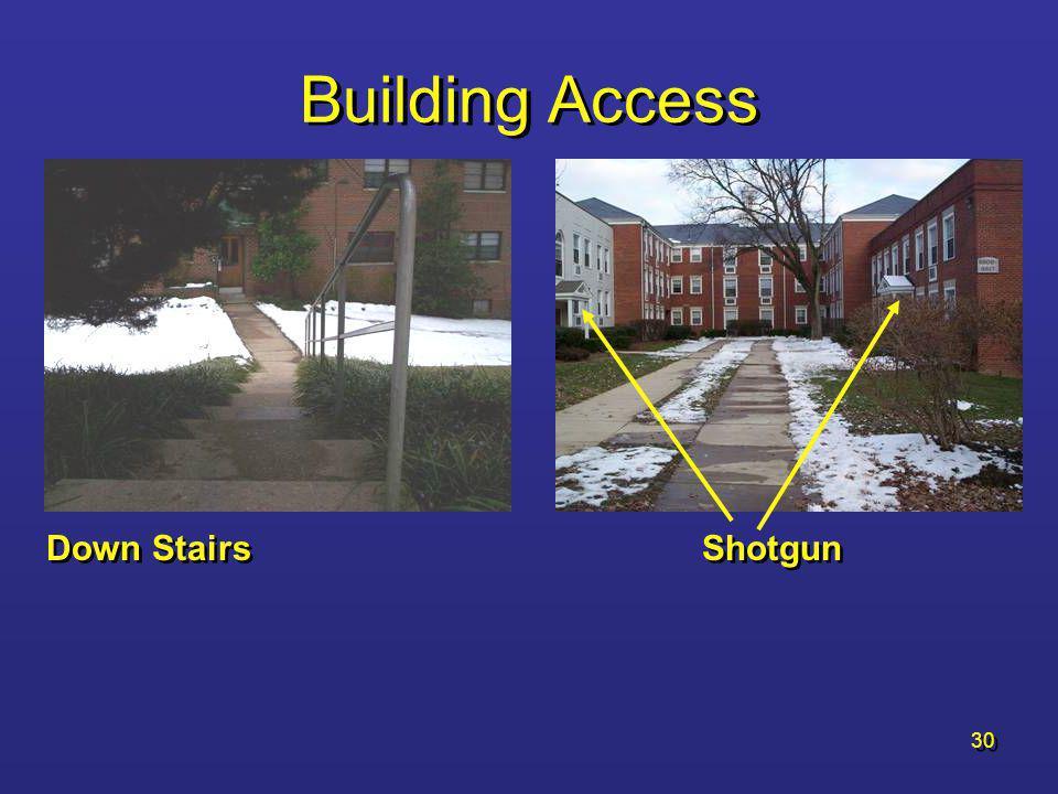 Building Access Down Stairs Shotgun