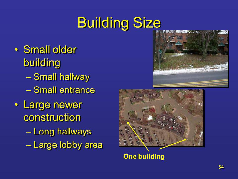 Building Size Small older building Large newer construction