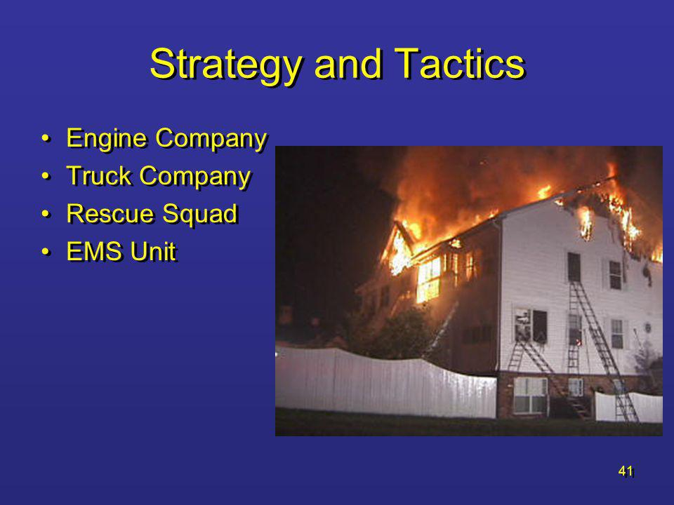 Strategy and Tactics Engine Company Truck Company Rescue Squad