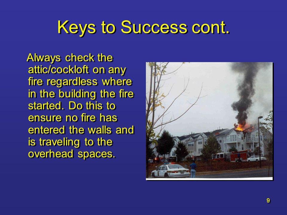 Keys to Success cont.