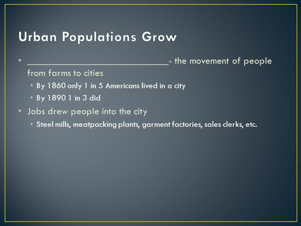 Urban Populations Grow