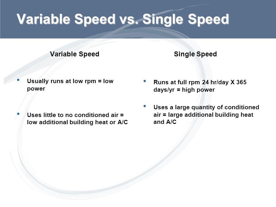Variable Speed vs. Single Speed