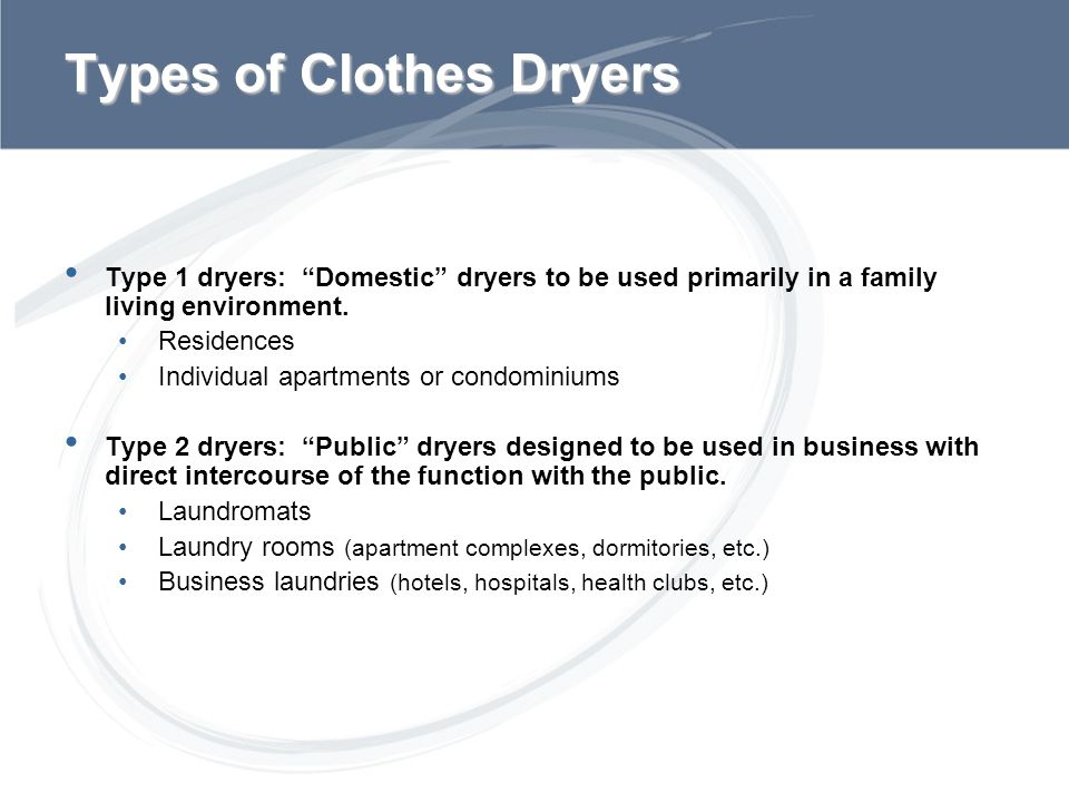 Types of Clothes Dryers